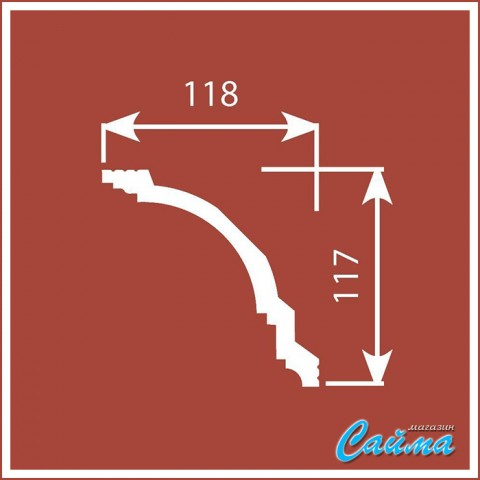 Карниз CoSca К004 (117х118х2000)