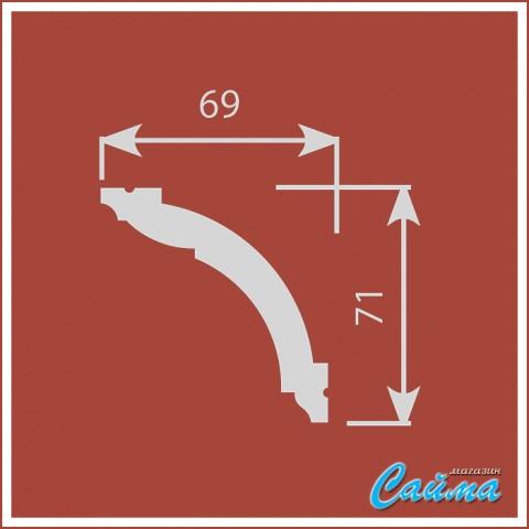 Карниз CoSca К005 (69х71х2000)