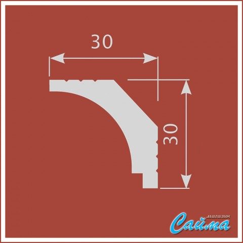 Карниз CoSca К019 (30х30х2000)