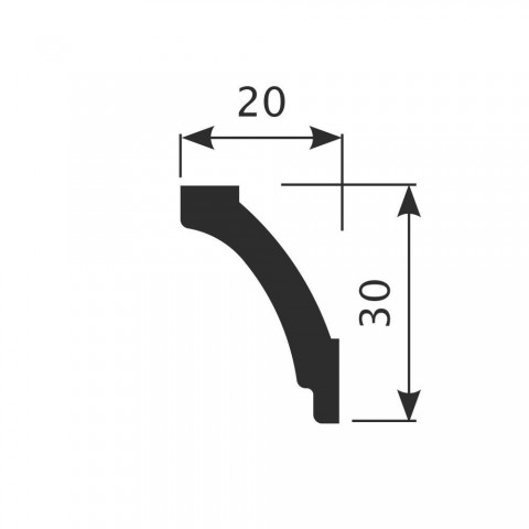 Карниз CoSca К030 (20х30х2000)