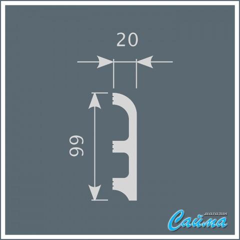 Плинтус Cosca П014 (20х99х2000)