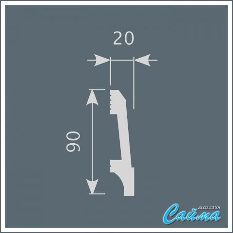 Плинтус Cosca П023 (20х90х2000)