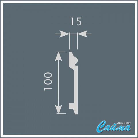 Плинтус Cosca П026 (15х100х2000)