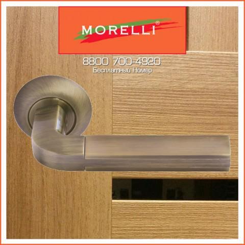 Дверные Ручки Morelli MH-11 MAB/AB Цвет Матовая Античная Бронза