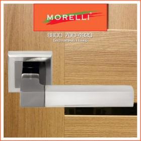 Дверные Ручки Morelli DIY MH-28 SN/BN-S Цвет Белый Никель/Черный Никель