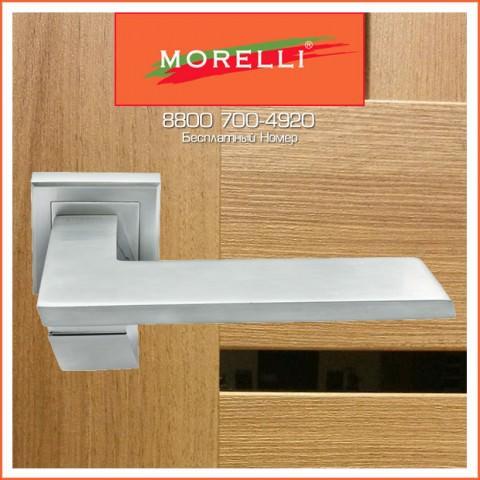 Дверные Ручки Morelli MH-29 SC/CP-S Цвет Матовый Хром и Полированный Хром
