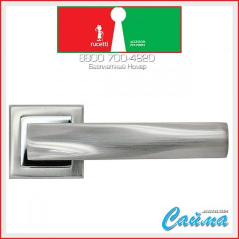 RAP 14-S SN/CP Белый никель / Хром - Дверные Ручки RUCETTI