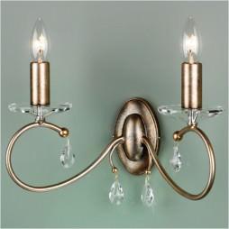 Светильник настенный бра Elstead LIGHTING Darcy DY2 S/GP (Silver/Gold Patina)