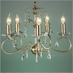 Люстра Elstead LIGHTING Darcy DY5 S/GP (Silver/Gold Patina)