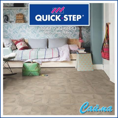 Ламинат Quick-Step Impressive Patterns Дуб Серый Теплый Брашированный IPA4141
