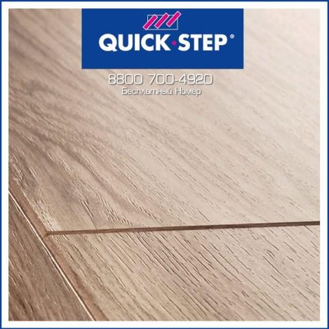 Ламинат Quick Step Perspective Доска Дубовая Светло-Серая Лакированная UF1304