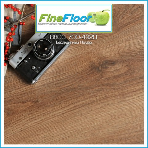 ПВХ-Плитка FineFloor Licht Дуб Брага FF-1335