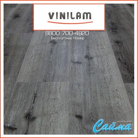 Виниловая ПВХ-Плитка Vinilam Гибрид + Пробка 6,5 мм. Дуб Ипр 10-066