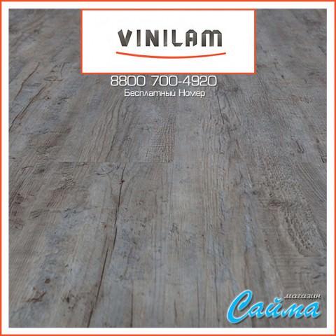 Виниловая ПВХ-Плитка Vinilam Гибрид + Пробка 6,5 мм. Дуб Льеж 10-015