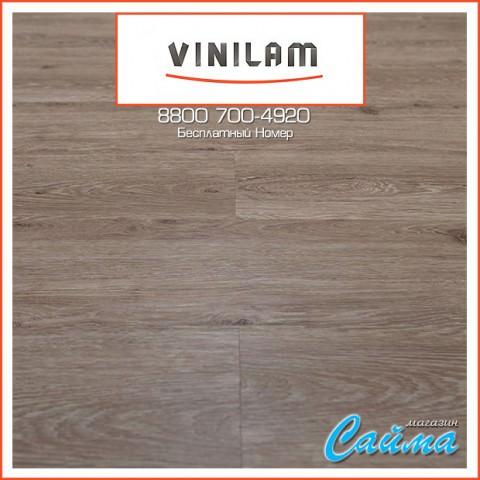 Виниловая ПВХ-Плитка Vinilam Гибрид + Пробка 6,5 мм. Дуб Брюссель 04-018