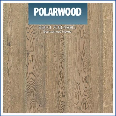 Паркетная Доска Polarwood Дуб Карме Премиум Серое Масло, браш 188 с фаской