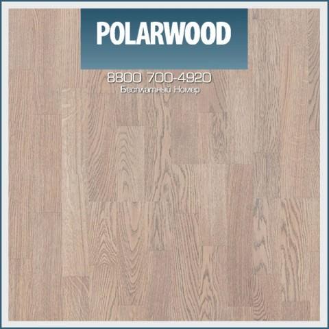Паркетная Доска Polarwood Дуб Ливинг Белый Матовый трехполосный