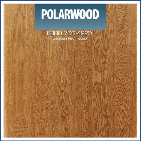 Паркетная Доска Polarwood Дуб Купидон Медовый Лак (Cupidon) Однополосный