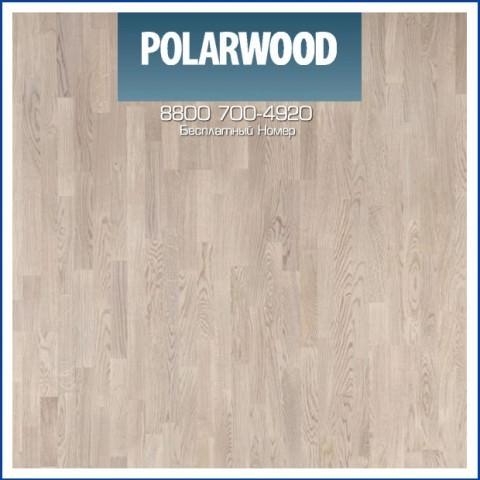 Паркетная Доска Polarwood Дуб Тундра Белый Матовый