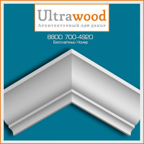 Карниз UltraWood CR 001 (75х80х2440)