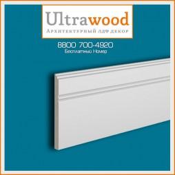 Плинтус UltraWood Base 5380 (10х110х2440) цвет рал 9005