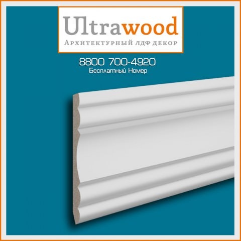 Карниз UltraWood CR 0022 (170х62х2440)