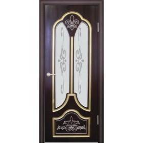Межкомнатная Дверь (ЧФД) Александрия Стекло с Матированным Рисунком, Патина