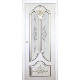 Межкомнатная Дверь (ЧФД) Александрия Стекло с Алмазной Гравировкой, Патина