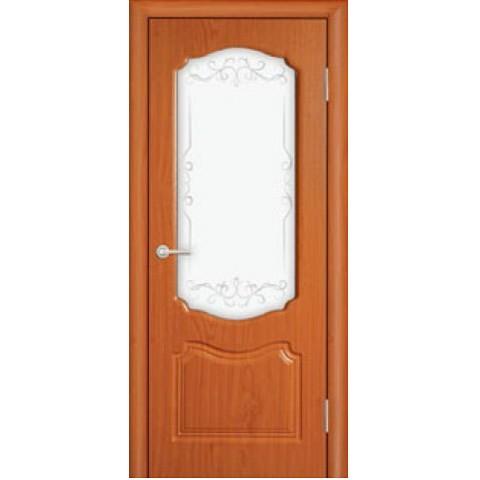 Межкомнатная Дверь (ЧФД) Богема Стекло Белое (глубокая фрезеровка)