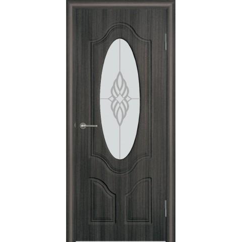 Межкомнатная Дверь (ЧФД) Глория Стекло Белое (глубокая фрезеровка)