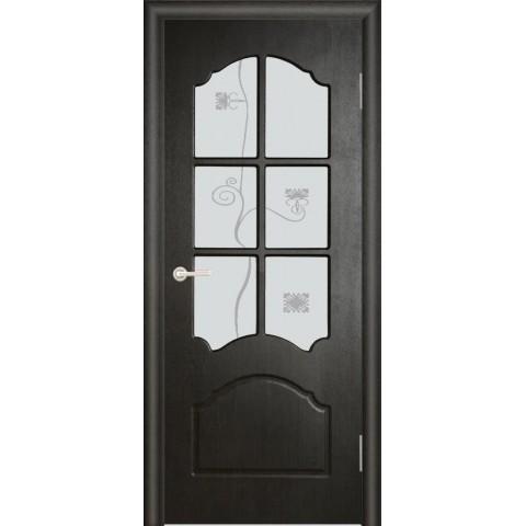 Межкомнатная Дверь (ЧФД) Кэрол Стекло Белое
