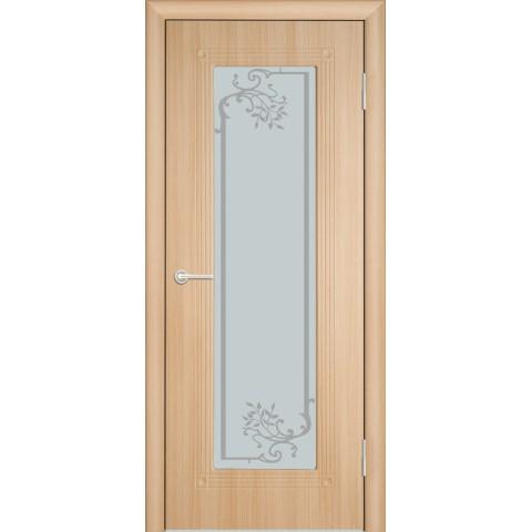 Межкомнатная Дверь (ЧФД) ПР-35 Стекло Белое
