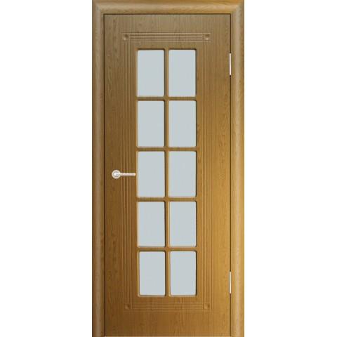Межкомнатная Дверь (ЧФД) ПР-35 Стекло Белое (с решеткой)