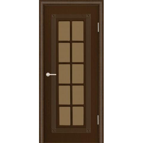 Межкомнатная Дверь (ЧФД) ПР-35 Стекло Бронза (с решеткой)
