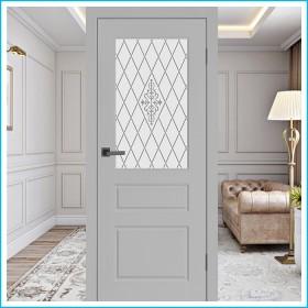Честер ПО - Межкомнатная Дверь Эмаль Серая