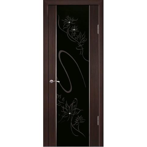 Межкомнатная Дверь Геона. Кристалл Остекленная Триплекс с Рисунком со Стразами