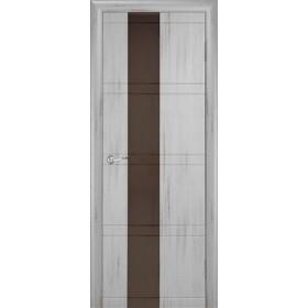 Межкомнатная Дверь Геона. Квадро Остекленная Триплекс тонированный