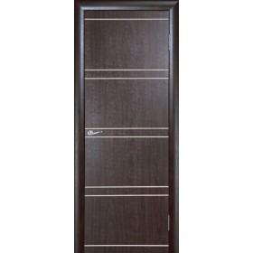 Межкомнатная Дверь Геона. Квадро Глухая (с пат. на фрезеровке)