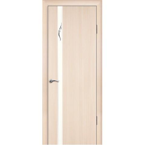 Межкомнатная Дверь Геона. Люкс. 1-1 ЭКОНОМ остекленная Зеркало матовое с рисунком