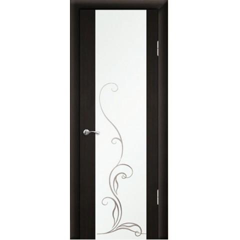 Межкомнатная Дверь Геона. Люкс 1 ЭКОНОМ остекленная Зеркало матовое с рисунком