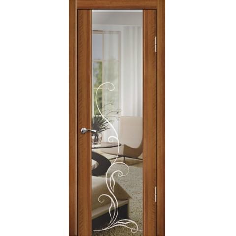 Межкомнатная Дверь Геона. Люкс 1 Остекленная Триплекс Зеркало с Гравировкой