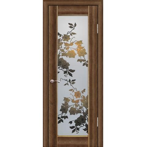 Межкомнатная Дверь Геона. Орхидея Остекленная Фотопечать