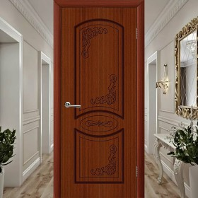 Муза (Глухая) - Шпонированная Межкомнатная Дверь Макоре