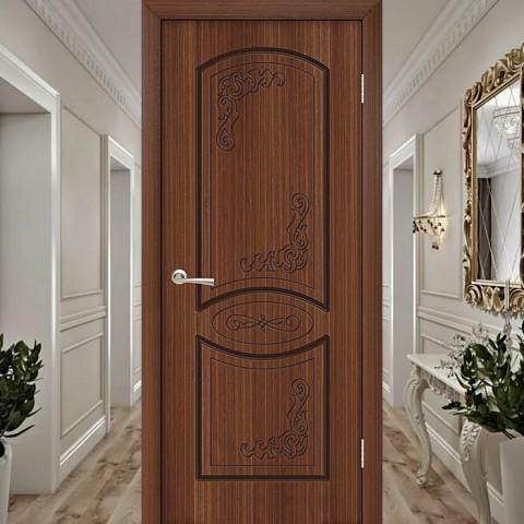 Муза (Глухая) - Шпонированная Межкомнатная Дверь Орех