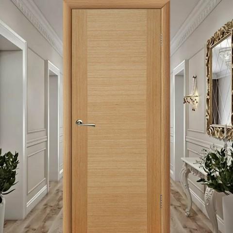 Рондо (Глухая) - Шпонированная Межкомнатная Дверь Дуб