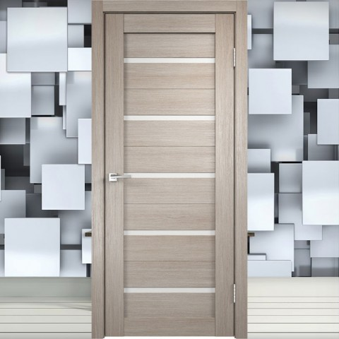 Duplex Лакобель белое - Межкомнатная Дверь Velldoris (Танго)