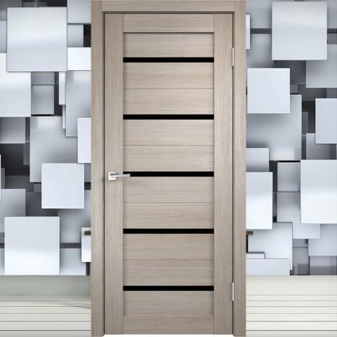 Duplex Лакобель чёрное - Межкомнатная Дверь Velldoris (Танго)