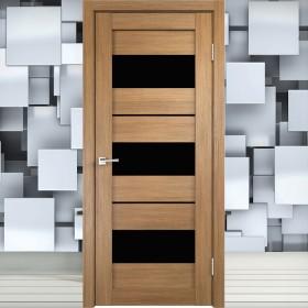 Duplex 12 Лакобель чёрная - Межкомнатная Дверь Velldoris