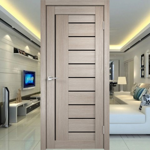 Linea 3 (Лакобель-чёрное) - Межкомнатная Дверь Velldoris