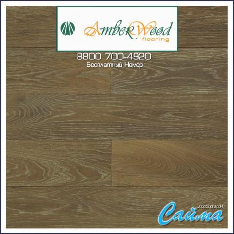 Массивная Доска Amber Wood Дуб SILVER Браш Масло 18х125х300-1400